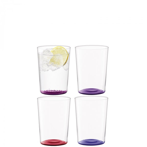 LSA Coro Tumbler 560ml Set of 4 Berry