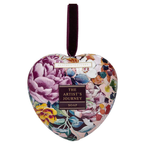 Heathcote & Ivory The Artist's Journey Heart Soap in Tin
