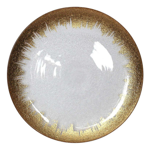 Mikasa Glass Gold Charger Plate