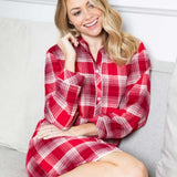 Cyberjammies Megan Brush Checked Nightshirt