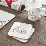Sophie Allport Partridge in a Pear Tree Coasters Set of 4