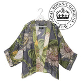 One Hundred Stars OHS X Kew RBG Passion Flower Grey Kimono