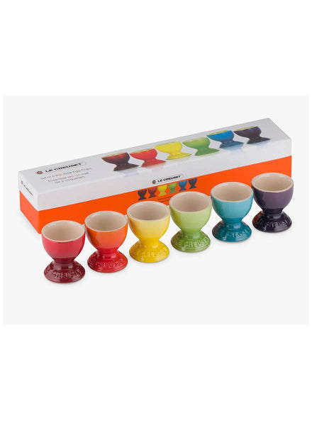 Le Creuset Rainbow Set of Six Egg Cups