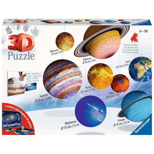 Ravensburger Planetary Solar System 3D Puzzles