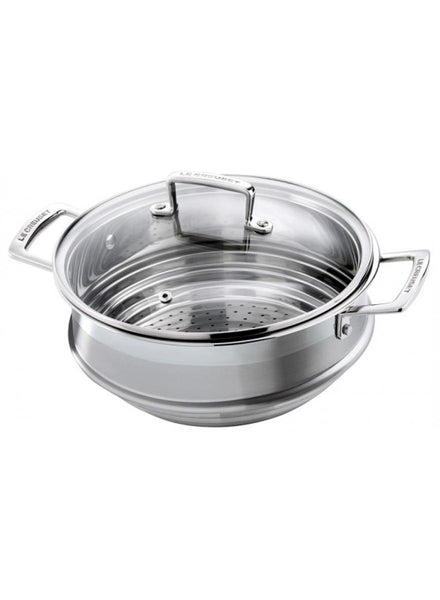 Le Creuset 3-Ply Stainless Steel Large Multi Steamer with Glass Lid