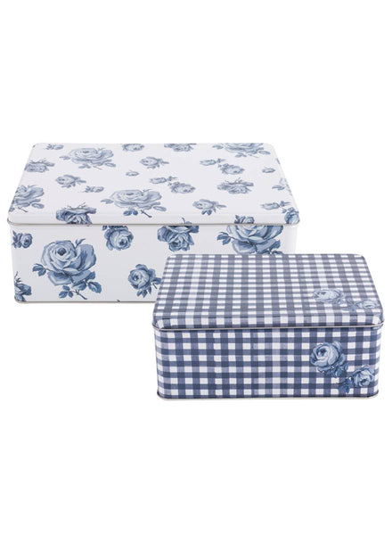 Kitchencraft Katie Alice Vintage Indigo Set of 2 Tins