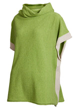 Super soft geelong lambswool poncho in Cardamom green