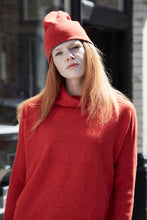 100% luxury geelong lambswool roll neck boxy jumper , made in UK