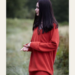 Slouch Dress in Geelong Lambswool