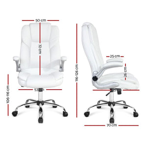 Executive PU Leather Office Chair - White