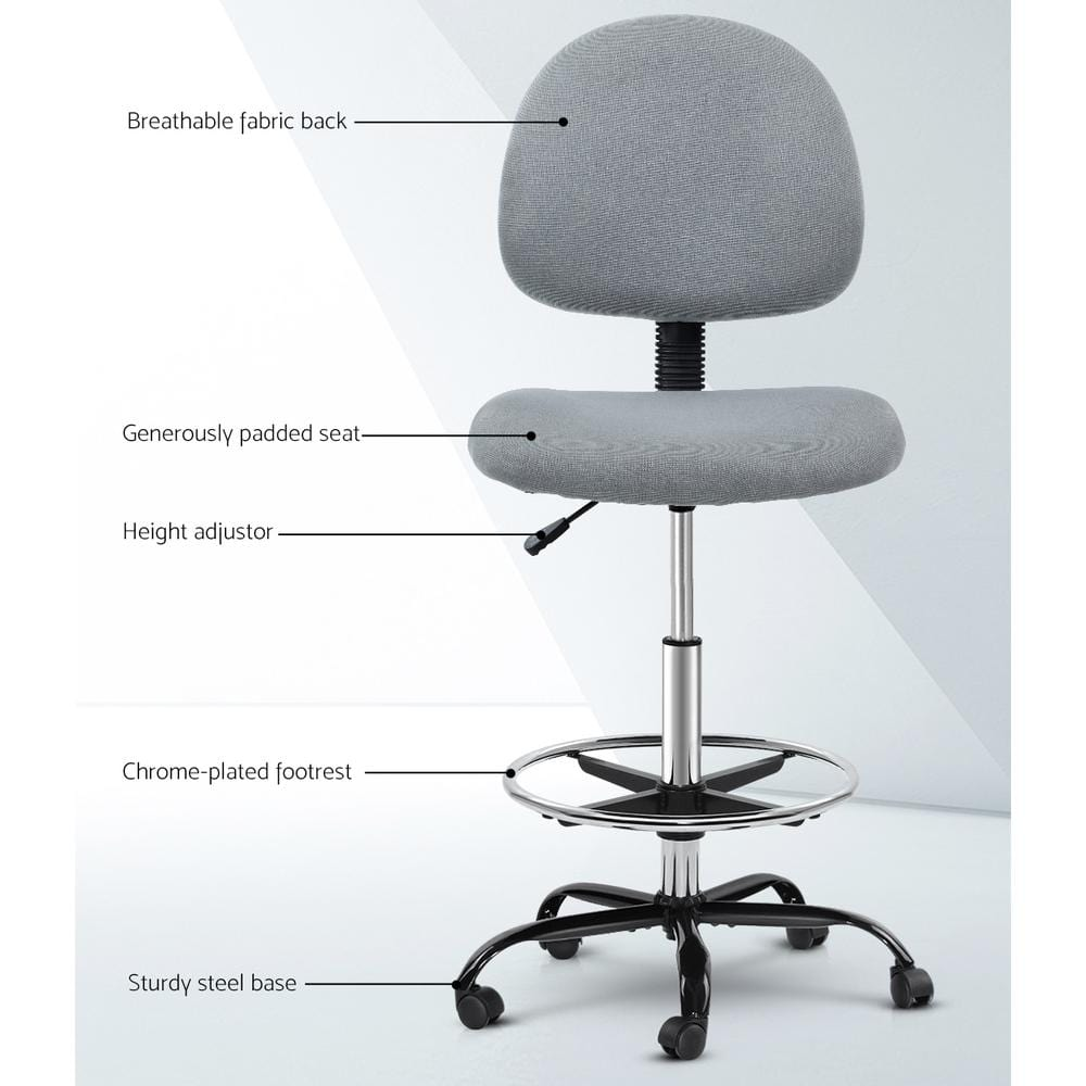 Veer Drafting Office Chair - Grey