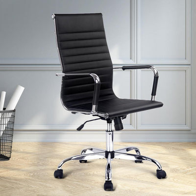 Eames High Back PU Leather Office Chair