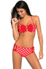 Red White Dots Bow Detail High Waist Bathing Suit