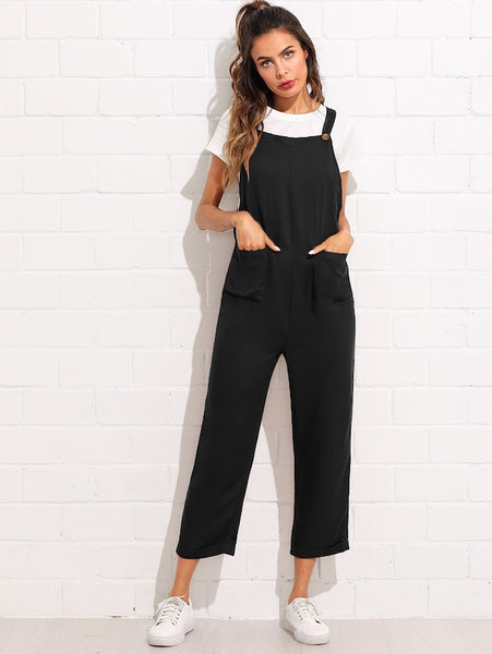 Front Pocket  Trendy Jumpsuit