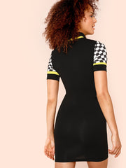 Black Sporty Pencil Dress