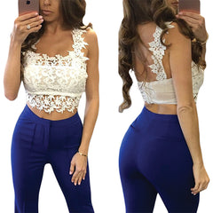 White Lacy Trimmed - Online Women Crop Tops