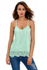 Light Blue Scalloped Lace Tank Top