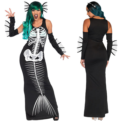 Halloween Cosplay Skeleton Siren - Online Women Halloween Costume