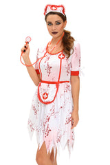 3pcs Horrible Zombie - Online Women Nurse Costume