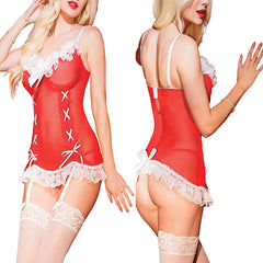 Kissable Christmas Night Santa Chemise - Online Women Christmas  Costume