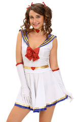 5pcs Anime Sailor Heroine - Online Women Heroes Costume