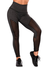 Active Shadow Insert Mesh Cut out Leggings