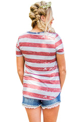 American Heart Flag - Online Women's T-Shirts Dress