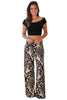 Black Damask Print Apricot Palazzo Pants - Online Women Pants & Culotte Dress