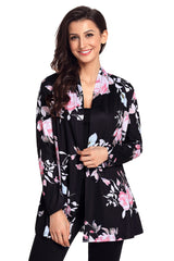 Floral Print Lightweight Cardigan - Online Women SWEATERS & CARDIGANS