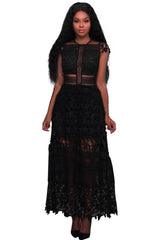 Lace Hollow Out Long Party - Online Women Evening Dress