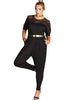Black Lace Patchwork Cutout Plus Size Jumpsuit - Online Women Daily New