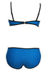 Black Ribbon Textured Blue 2pcs Bikini Swimsuit  - Online Women Daily New