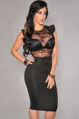 Black Sheer Lace - Online Women Evening Dress