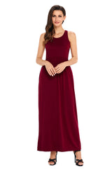 Racerback Maxi Dress with Pockets - Online Women Maxi Dress