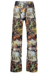 Digital Print Retro - Online Women Palazzo Pants