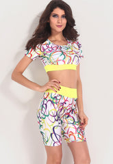 Dynamic Colorful Circle Stylish - Online Women Pant Sets