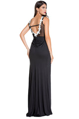 Embroidered Mesh Wrap - Online Women Maxi Dresses