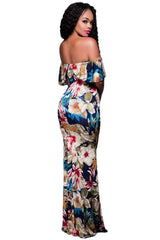Off-the-shoulder Maxi Dress - Online Women Boho Dresses