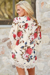 Flourishing Flowers Kimono - Online Women  Beach Dresses