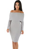 Mini Knit Jersey Off Shoulder Dress - Online Women Sweater Dress