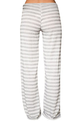 White Striped Wide Leg - Online Women Pants & Culotte Dresses