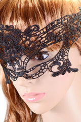 Halloween Masquerade Party Black Lace - Online Women Mask
