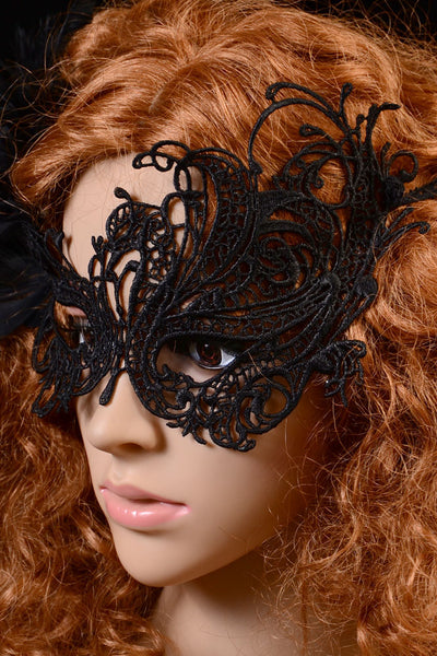 Halloween Masquerade Party Gothic Black Lace - Online Women Mask