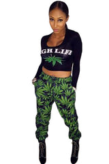 High Life Weed Print - Online Women Pant Sets