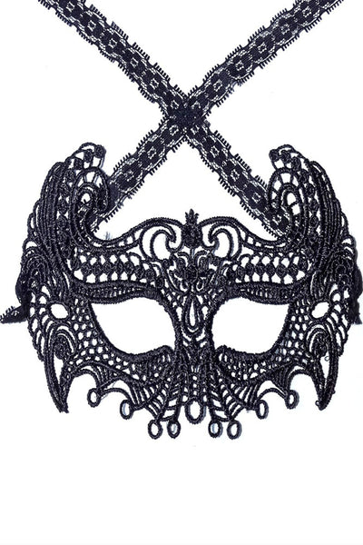 Mysterious Black Lace Masquerade Party - Online Women Mask