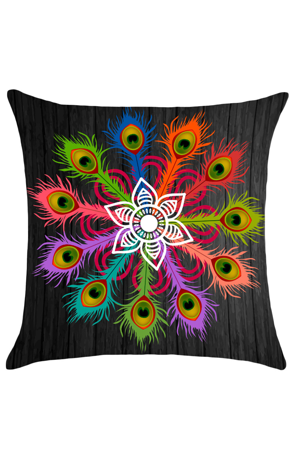 Peafowl Floral Print Cushion Pillow Cover - Online Women Fashion Accessories