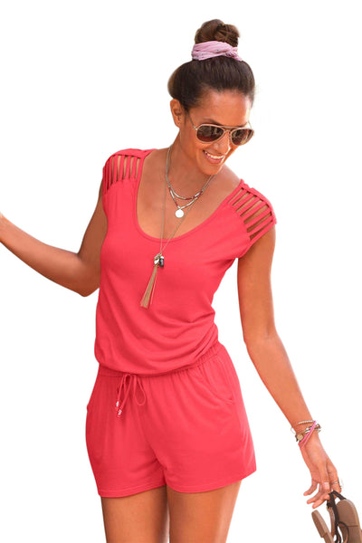 Pink Loose Fitting Short Jumpsuit