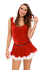 Plus Size Soft Fur Trim Red Santa Teddy and Skirt Christmas Costume - Online Women Plus Size Costumes