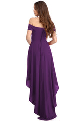 High Low Hem Off Shoulder Party - Online Women Evening Dress