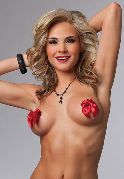 Red Bow Pasties - Online Women NIPPLE COVERS